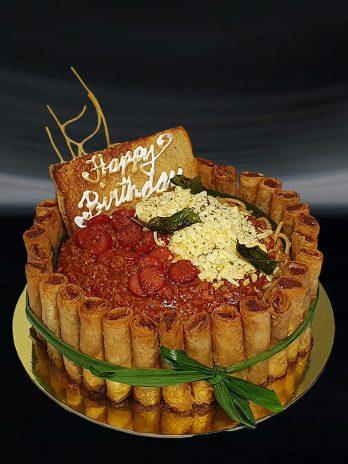 Spaghetti Fiesta Cake