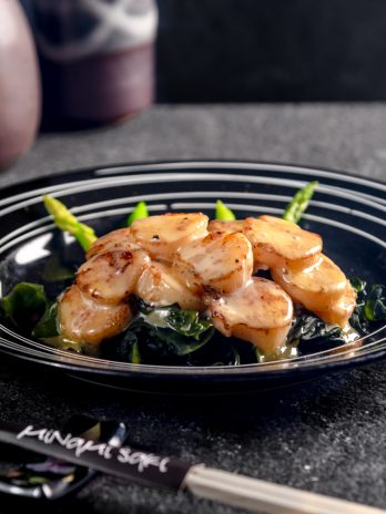 U.S. SCALLOPS WITH TAMAGO SAUCE